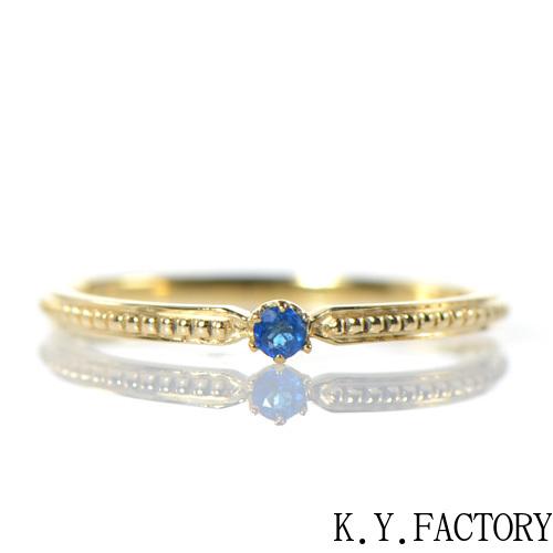 アウイナイト リング ミルウチ K18イエローゴールドYK-BL064CI 指輪 華奢 ミルウチ シンプル レディース ギフト ゴールド