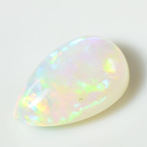 エチオピアン オパール ペアシェイプ カボション 大粒 ルース 天然石 10月誕生 S-D060YKAMC
