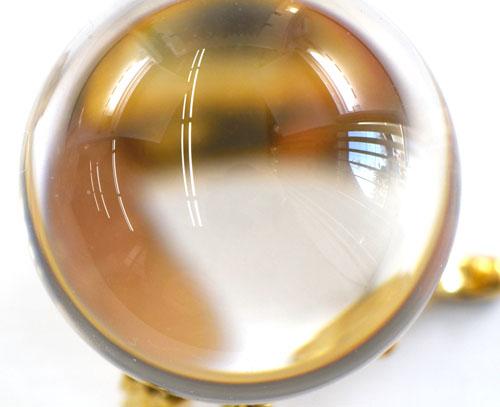 国産水晶丸玉 サイズ 35.15mm玉 無傷 ソーティング付き