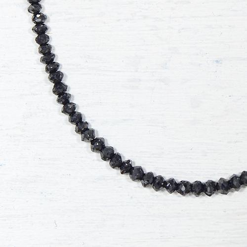 ブラックダイヤモンド 約15cts K18ホワイトゴールド ネックレスYK-F078-1601K18WG 4月誕生石