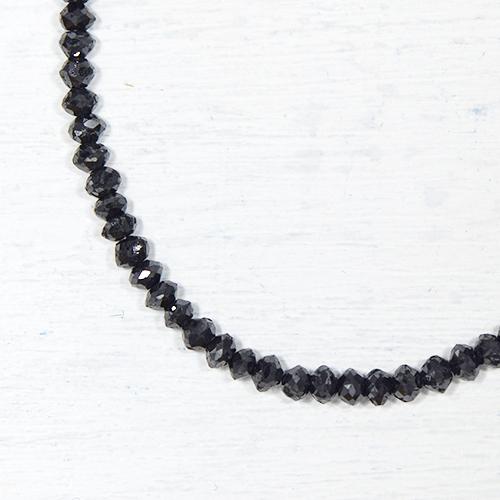 ブラックダイヤモンド 約20cts K18ホワイトゴールド ネックレスYK-F079-1601K18WG 4月誕生石