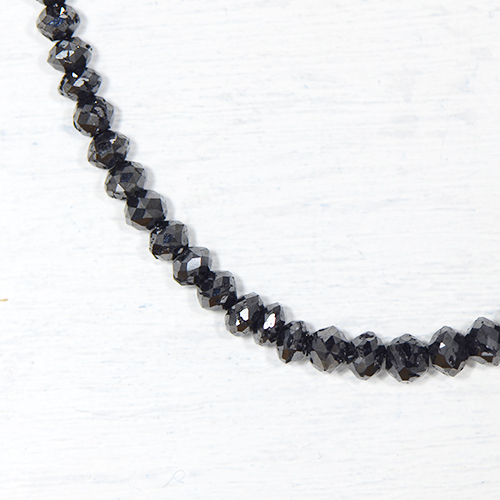 ブラックダイヤモンド 約30cts K18ホワイトゴールド ネックレスYK-F080-1601K18WG 4月誕生石