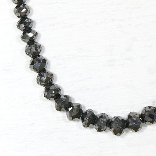 ブラックダイヤモンド 約40cts K18ホワイトゴールド ネックレスYK-F081-1601K18WG 4月誕生石