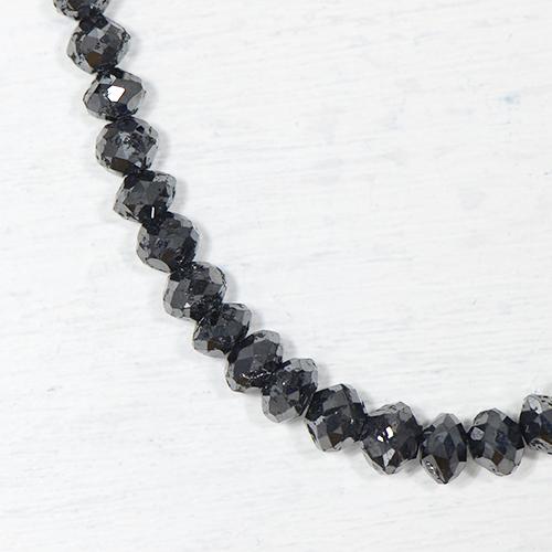 ブラックダイヤモンド 約50cts K18ホワイトゴールド ネックレスYK-F082-1601K18WG 4月誕生石