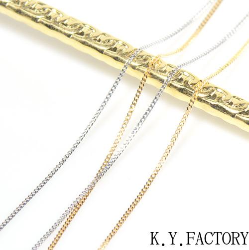 喜平 チェーン ネックレス 約40cm 太さ:約0.65mm 線径 約0.2mm K18イエローゴールド/ホワイトゴールド/ピンクゴールド/プラチナ850 YK-AS035YKAM