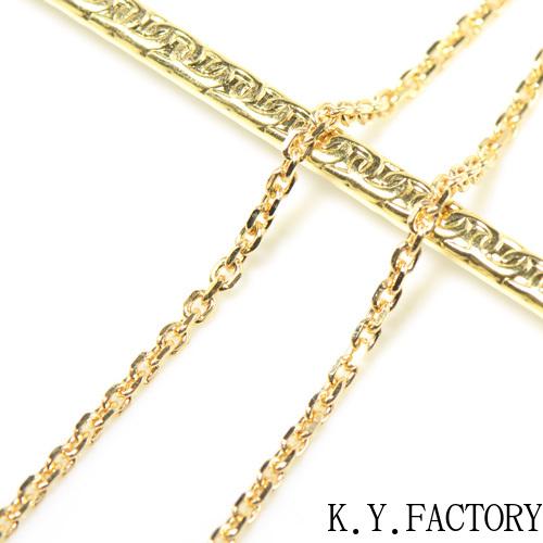 角アズキ  ネックレス 約45cm 線径:約0.6mm K18イエローゴールド ホワイトゴールド ピンクゴールド チェーン   YK-AS065YKAMC