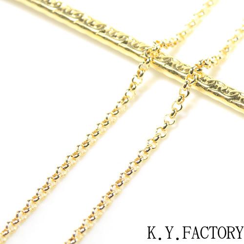 コプラ チェーン ネックレス 約59cm 線径 約2.4mm丸形線形  YK-BE094CI K18イエローゴールド/ホワイトゴールド/ピンクゴールド