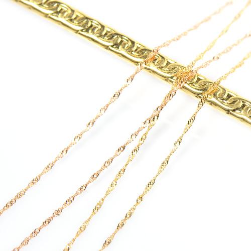 スクリューチェーン 60cm K18イエローゴールド ホワイトゴールド ピンクゴールド 線径0.13mm YK-BJ041CI28 (11208870) A058-1404 ネックレス 18金 YG WG PG