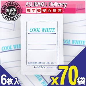 【あす楽対応商品】【貼付型冷却材】テイコクファルマケア クールホワイト(COOL WHITE) 14x10cm 6枚入り x70袋(合計420枚)【smtb-s】【HLS_DU】