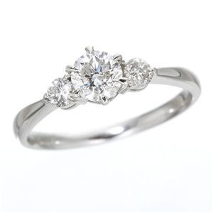 K18ホワイトゴールド0.7ct ダイヤリング 指輪 キャッスルリング 17号 送料無料!