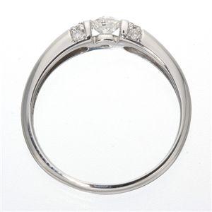 0.28ctプラチナダイヤリング 指輪 デザインリング 21号 !