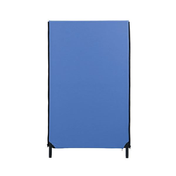 林製作所 ZIP2パーティション(パーテーション/衝立) 幅700mm×高さ1200mm アジャスター付き クロス洗濯可 YSNP70S-BL ブルー 送料込!