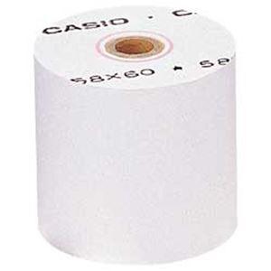 激安使いやすい電卓 カシオ CASIO プリンタ電卓 ロールペーパー 日本製 送料込 RP5860×5 1箱 5巻 メーカー在庫限り品