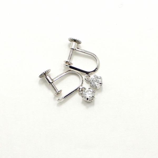 ダイヤリング 指輪 0.4ct スゥイング スクリュー式 イヤリング【代引不可】 送料無料!
