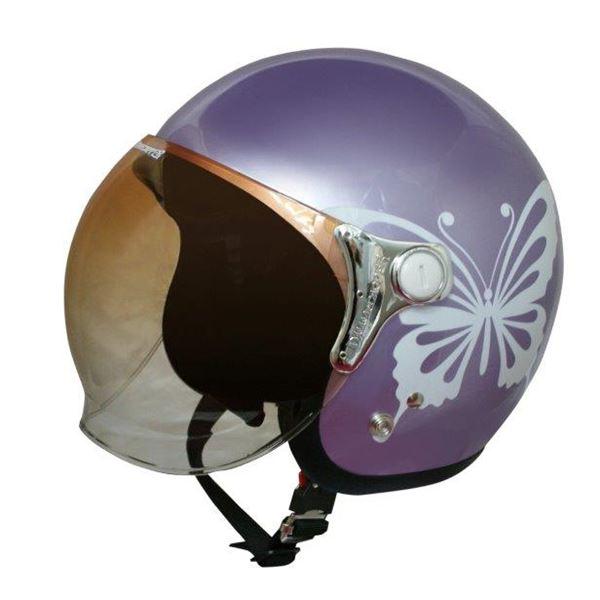 ダムトラックス(DAMMTRAX) ジェットヘルメット NEW チアーバタフライ PURPLE 送料無料!