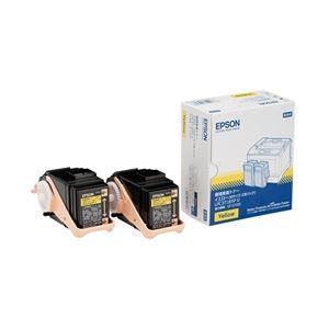 エプソン(EPSON) LP-S7100用 環境推進トナー/イエロー/Mサイズ2個パック(6500ページ×2) LPC3T18YPV 送料無料!