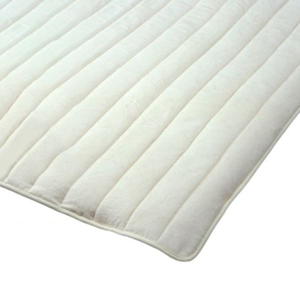 無漂白無着色綿毛布素材使用 コットン敷パッド ダブル 綿100% 日本製 送料無料!