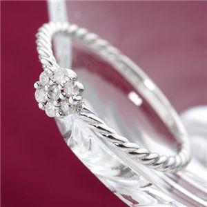18金 品質保証 ダイヤモンドリング K18WGダイヤリング 21号 指輪 ショッピング 送料無料