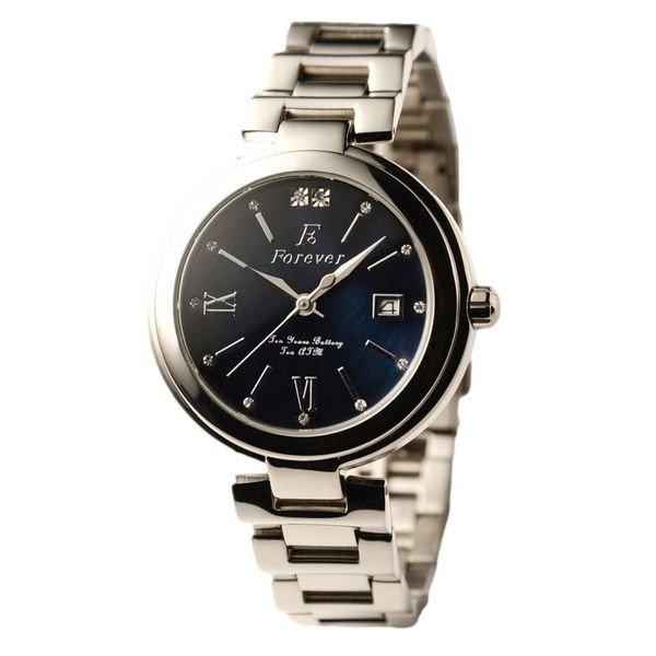 Forever(フォーエバー) 腕時計 デイト付き FG-1201-10 ブラックシェル×ブラック 送料無料!