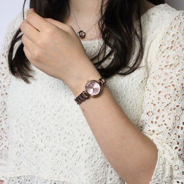 Forever(フォーエバー)  腕時計 デイト付き FL-1201-3  ピンク×ピンクゴールド !