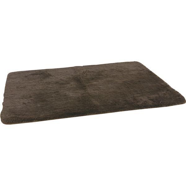 ラグマット 正方形(185cm×185cm) BLF-185BR ブラウン 送料込!