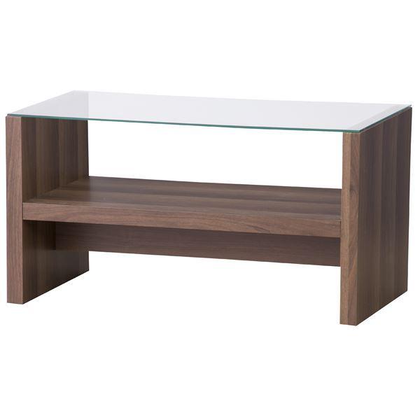 シンプルなデザインのおしゃれなローテーブル 数量限定アウトレット最安価格 机 新作 カフェテーブル 木製 強化ガラス製 CAT-BR 棚収納付き 送料込 ブラウン