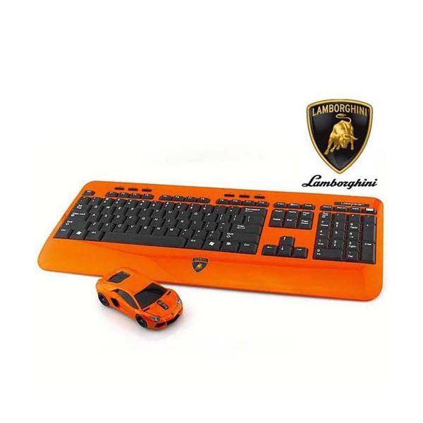 LANDMICE Lamborghini LP700 2.4G無線マウス+キーボード (オレンジ) LB-LP700KM-OR 送料無料!