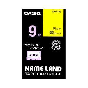 (業務用セット) カシオ(CASIO) ネームランド エコテープカートリッジ 黄に黒文字 9mm 【×10セット】 送料無料!