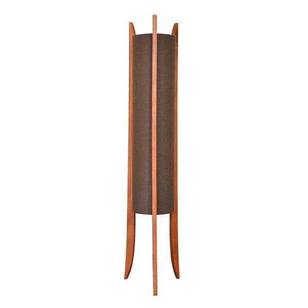 スタンドライト(フロアライト/照明器具) ファブリック×天然木 ELUX(エルックス) TUBO Table ブラウン 【電球別売】【代引不可】 送料込!