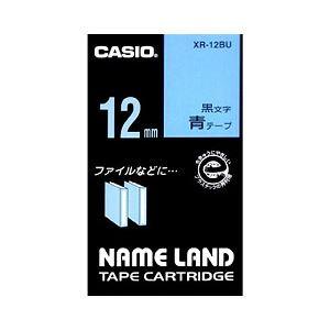 (業務用セット) カシオ(CASIO) ネームランド エコテープカートリッジ 青に黒文字 12mm 【×10セット】 送料無料!