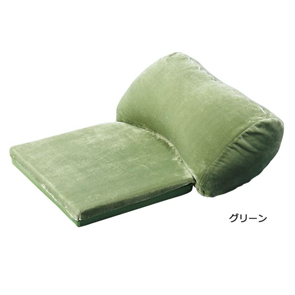 うっとりクッション/大判クッション 【小】 リバーシブル仕様 グリーン(緑) 送料込!