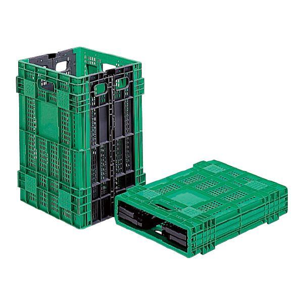 (業務用5個セット)三甲(サンコー) 折りたたみコンテナボックス/オリコン 【95L】 W95A グリーン(緑) 【代引不可】 送料込!