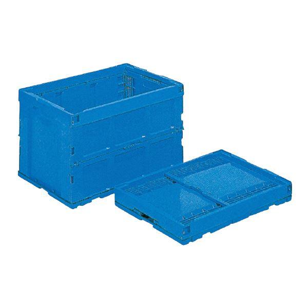 折り畳み式で収納にも便利なコンテナBOX まとめ 爆安プライス 三甲 サンコー 折りたたみコンテナボックス オリコン 96L 送料込 95B-S ブルー 代引不可 フタ別売り ×5セット 青 セール価格
