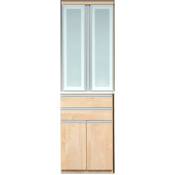 【開梱設置費込】食器棚 RNシリーズ 60cm幅 ダイニングボード キッチンボード メープル色 【日本製】【代引不可】 送料込!