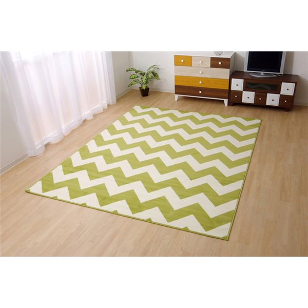 ベルギー製 輸入ラグマット ウィルトン織りカーペット 幾何柄 『イカット』 約80×140cm 送料込!