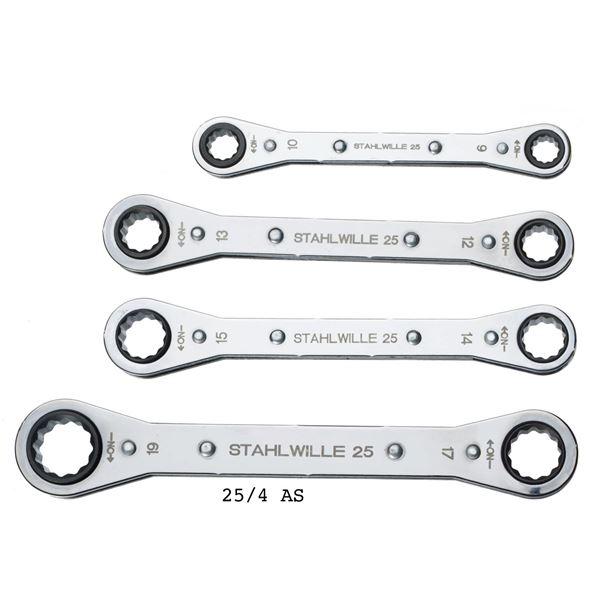 STAHLWILLE(スタビレー) 25/4 板ラチェットメガネセット (96411302) 送料無料!