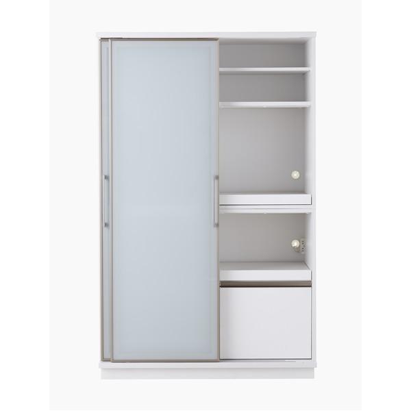【開梱設置費込】食器棚 ACシリーズ 122cm幅 目隠し収納 キッチンボード ホワイトボード 【日本製】【代引不可】 送料込!