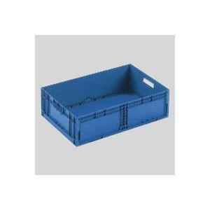(まとめ) 岐阜プラスチック工業 折りたたみコンテナーF-Box F-BOX122G1 ダークブルー 1個入 【×2セット】 送料込!