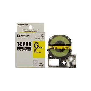 (業務用50セット) キングジム テプラPROテープ/ラベルライター用テープ 【幅:6mm】 SC6Y 黄に黒文字 送料込!