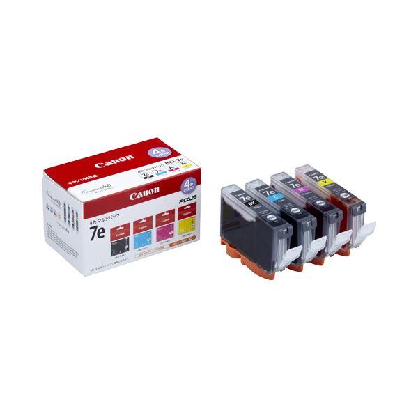 (まとめ) キヤノン Canon インクタンク BCI-7e/4MP 4色マルチパック 1018B001 1箱(4個:各色1個) 【×3セット】 送料無料!