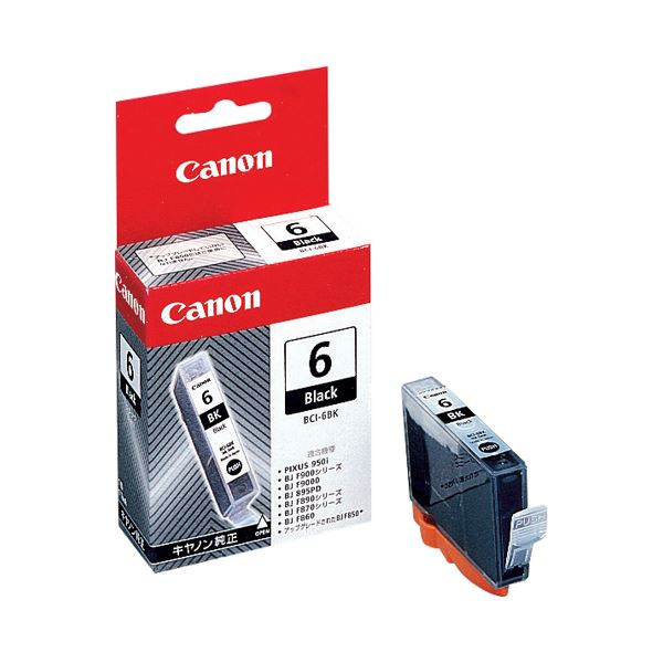 (まとめ) キヤノン Canon インクタンク BCI-6BK ブラック 4705A001 1個 【×10セット】 送料無料!