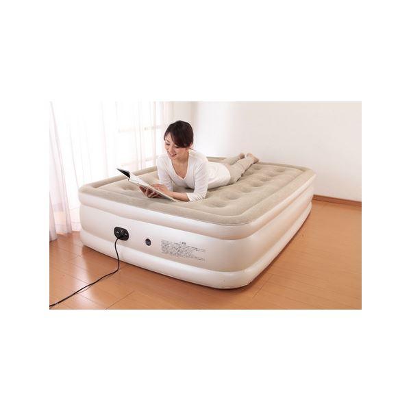 電動エアーベッド/簡易ベッド 【シングルサイズ】 電動ポンプ内蔵 収納袋付き 厚さ約46cm【代引不可】 送料込!