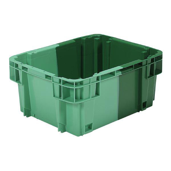 (まとめ)三甲(サンコー) SNコンテナ/2色コンテナボックス 【Bタイプ】 #28D グリーン×グリーン【×10セット】【代引不可】 送料込!
