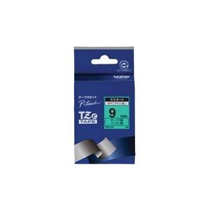(業務用30セット) brother ブラザー工業 文字テープ/ラベルプリンター用テープ 【幅:9mm】 TZe-721 緑に黒文字 送料込!