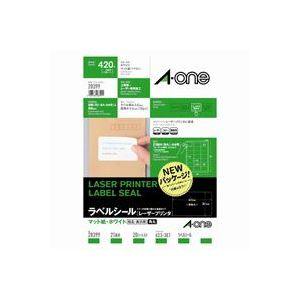 (業務用30セット) エーワン レーザープリンター用ラベルシール/宛名シール 【A4/21面 20枚】 28399 送料込!