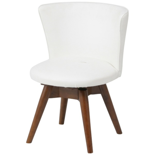 モダン調 ダイニングチェア/食卓椅子 【ウエンジ×ホワイト】 幅50cm 木製フレーム 『クラム』【代引不可】 送料込!
