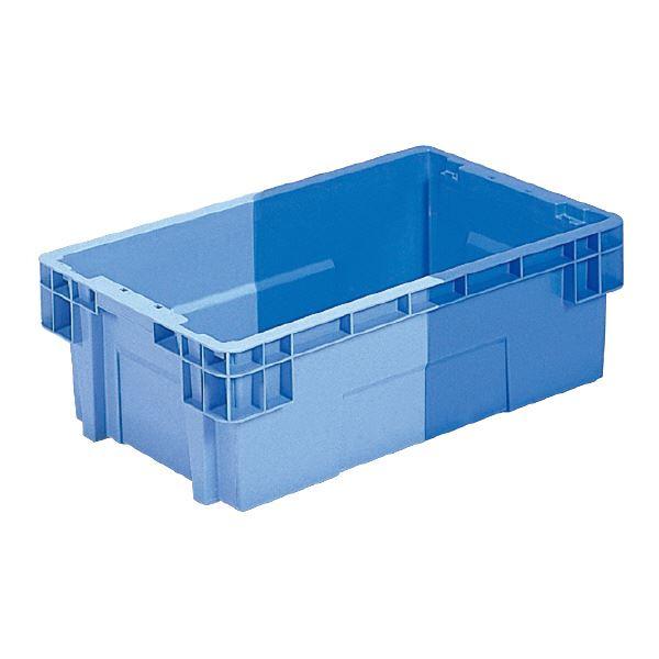 スタッキング 積上げ ネスティング 高級な 収納 両用コンテナボックス まとめ 三甲 サンコー SNコンテナ 代引不可 ×10セット 2色コンテナボックス PP Bタイプ ブルー×ライトブルー 正規品送料無料 #37 孔無 送料込