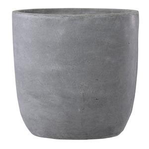 ファイバークレイ製 軽量 大型植木鉢 バスク ラウンド 43cm グレー 送料込!