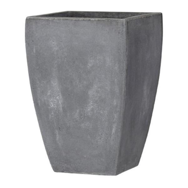 ファイバークレイ製 軽量 大型植木鉢 バスク スクエアー 35cm グレー 送料込!