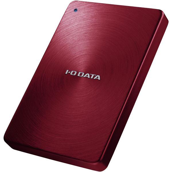 アイ・オー・データ機器 USB3.0/2.0対応 ポータブルハードディスク 「カクうす」 1.0TB レッド HDPX-UTA1.0R 送料無料!